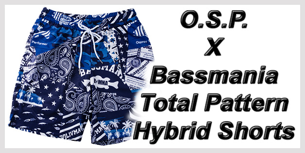 O.S.P. x Bassmania Total Pattern Hybrid Shorts