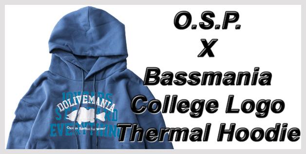 O.S.P. X Bassmania College Logo Thermal Hoodie