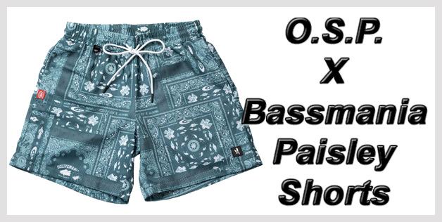 O.S.P. X Bassmania Paisley Shorts