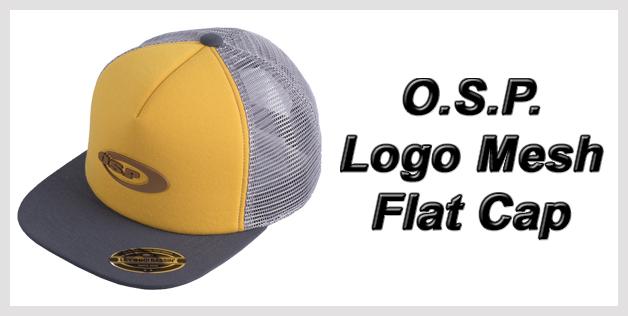 O.S.P. Logo Mesh Flat Cap
