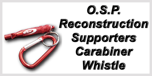 O.S.P. Reconstruction Supporters Carabiner Whistle